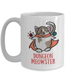 Dungeon Meowster DnD Dungeons and Dragons Cute RPG Cat Mug