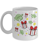 showered with gifts Animal Crossing mug
