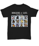 Dungeons and Dragons Cats Choose Your Fighter DnD RPG Unisex T-shirt
