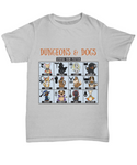 Dungeons and Dogs Choose Your Fighter DnD RPG Colored Unisex Dungeons and Dragons T-shirt