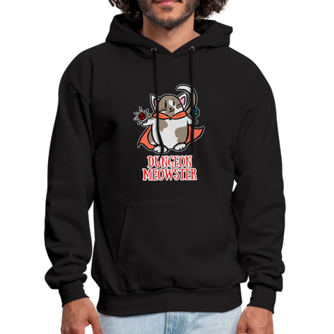 Dungeon Meowster DnD Dungeons and Dragons Cute Cat RPG Black Hoodie - black