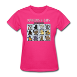 DnD Fighter Cats - Women's T-Shirt - fuchsia