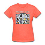 DnD Fighter Cats - Women's T-Shirt - heather coral