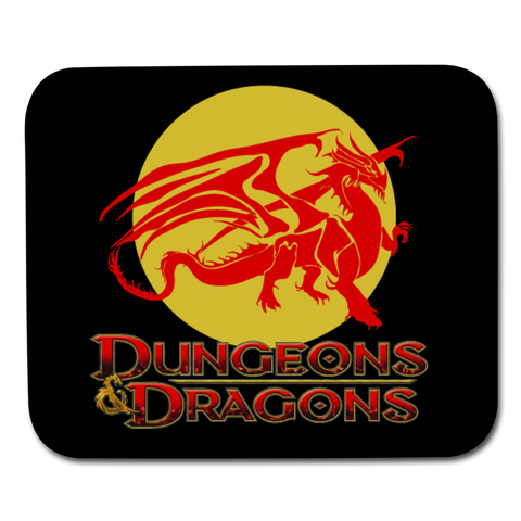 Dungeons and Dragons Ancient Red Dragon Mouse Pad - white