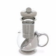 Shelby Wrapped Teapot & Infusers Steel