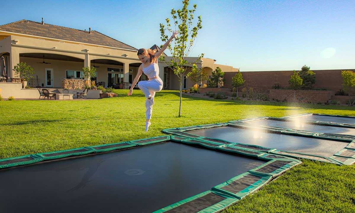 Ground trampoline USA