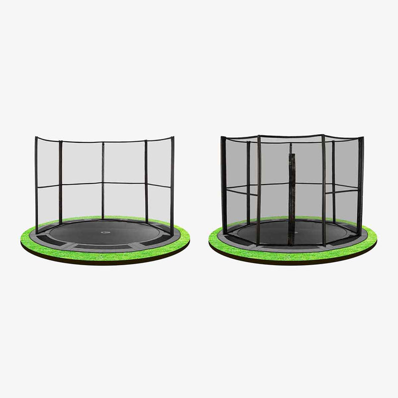 Safety net options for 8ft in-ground trampoline