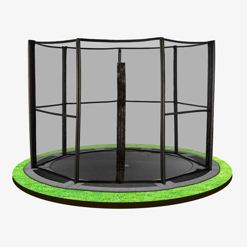 10ft in-ground trampoline with full safety net