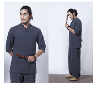 Mens Cotton Shirt and Pant 2pcs/set