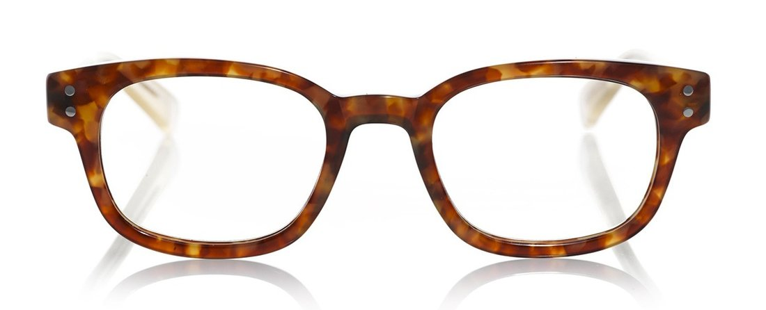 Butch Color T15 - Tortoise Front with Clear Temples