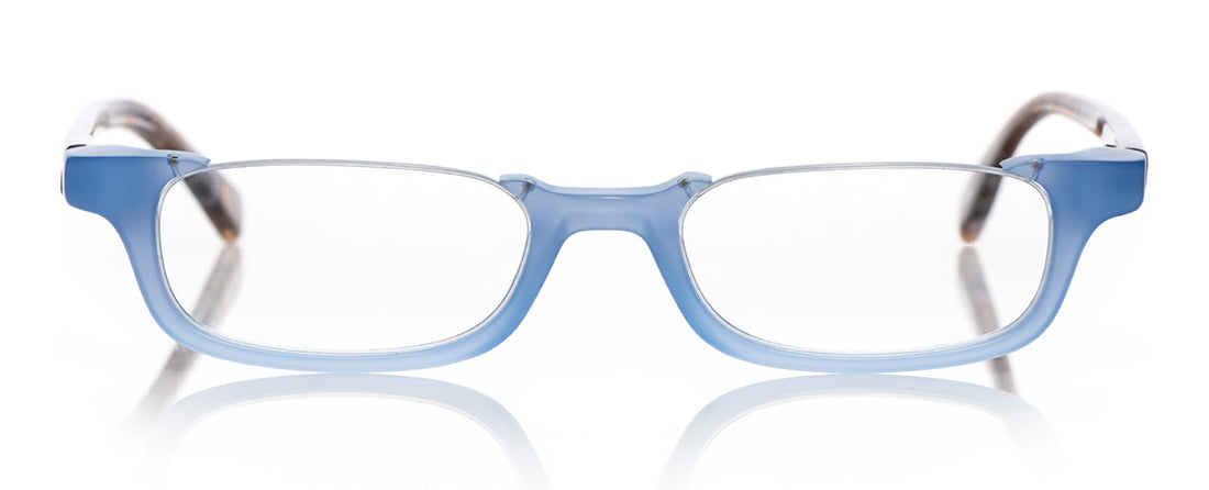 What Inheritance? Color 13 - Milky Blue Front with Brown and Blue Chop Temples