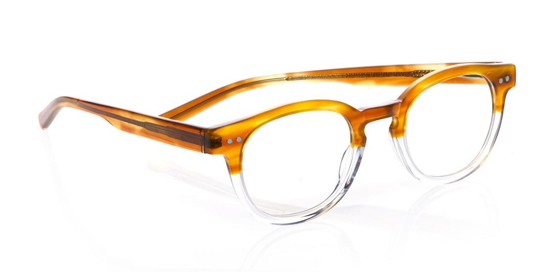 Waylaid Color 19 - Amber and clear crystal front with amber temples