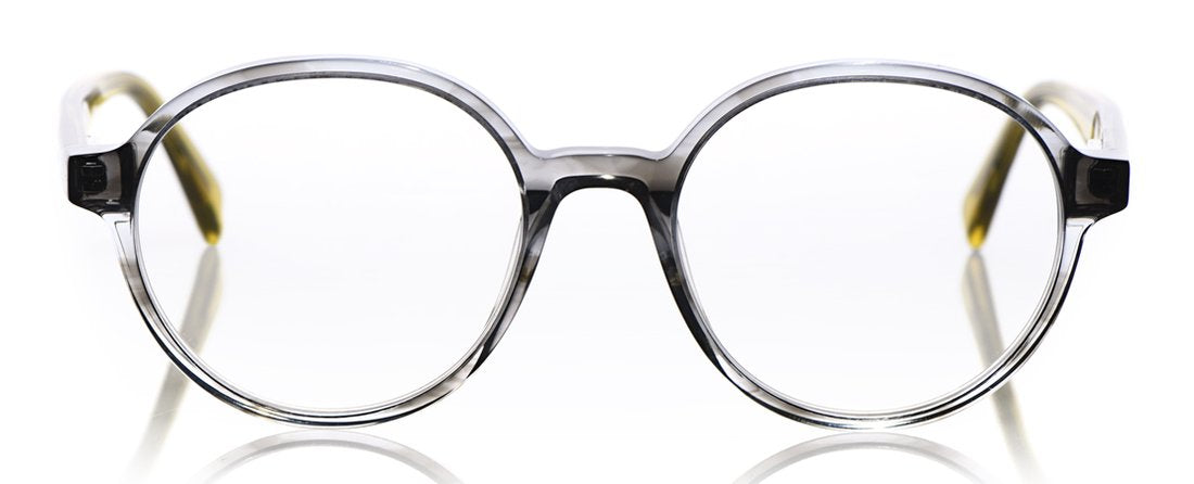 Rare Bird Color 74 - Grey Crystal Front with Dandelion Crystal Temples