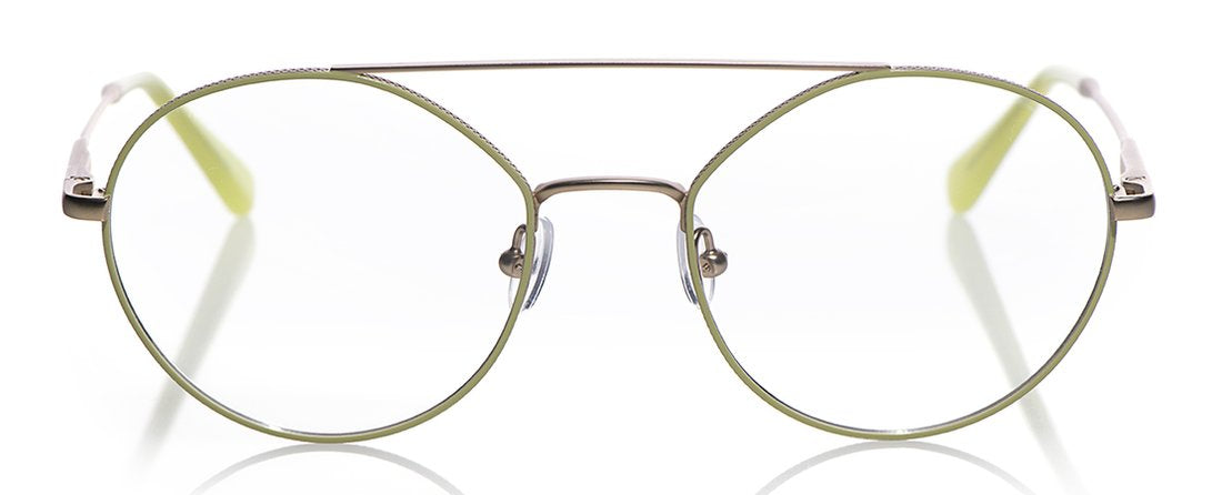Source Code Color 17 - Pale Gold with Lime Enamel Front with Pale Gold Temples