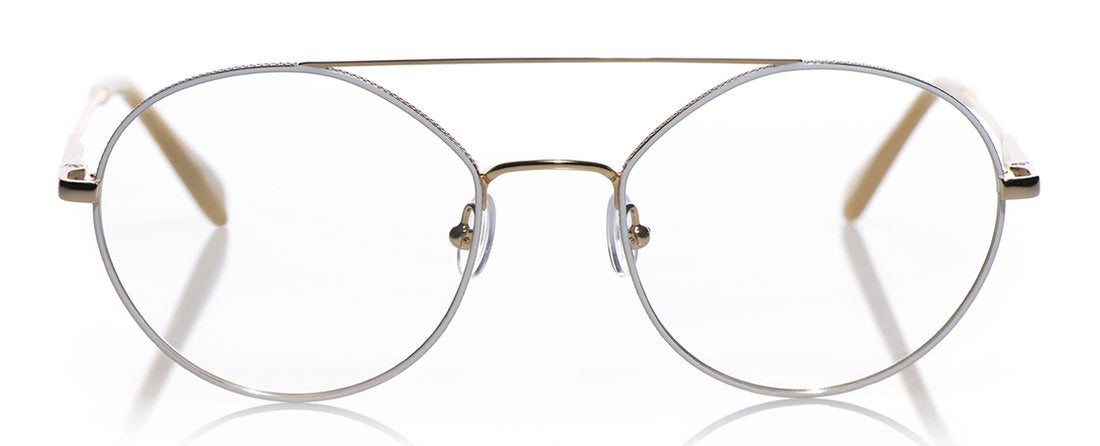 Source Code Color 99 - Gold with White Enamel Front with Gold Temples