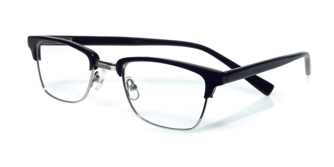 Ornery Color 00 - Black and silver metal front with black temples