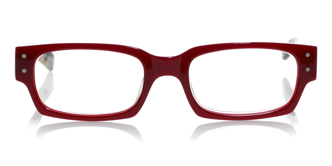 Peckerhead Color 01 - Red front with black and white tortoise temples