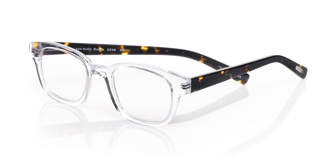 Butch Color 20 - Clear crystal front with demi tortoise temples