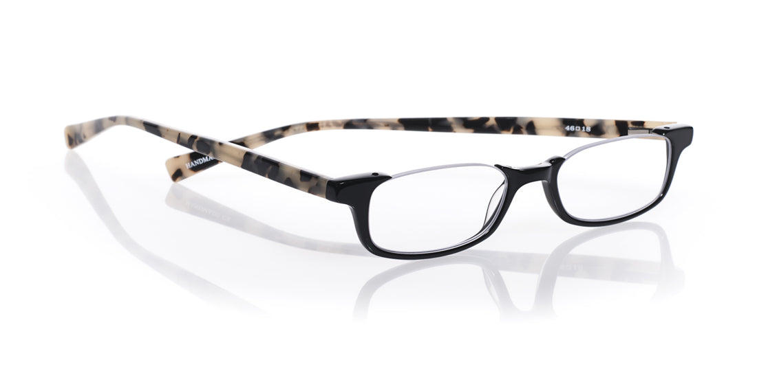 What Inheritance? Color 11 - Black Front with Black and White Tortoise Temples