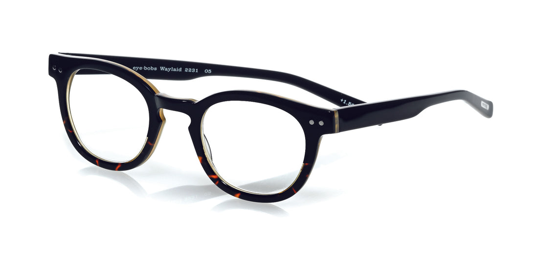 Waylaid Color 05 - Black demi tortoise front with black temples