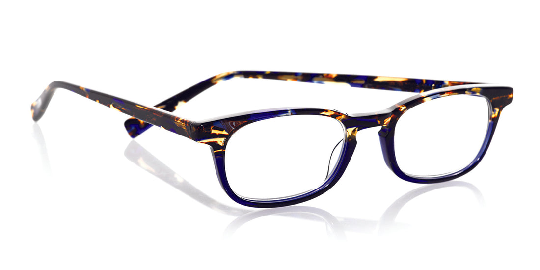 On Board Color 50 - Blue tortoise and blue front with blue tortoise temples