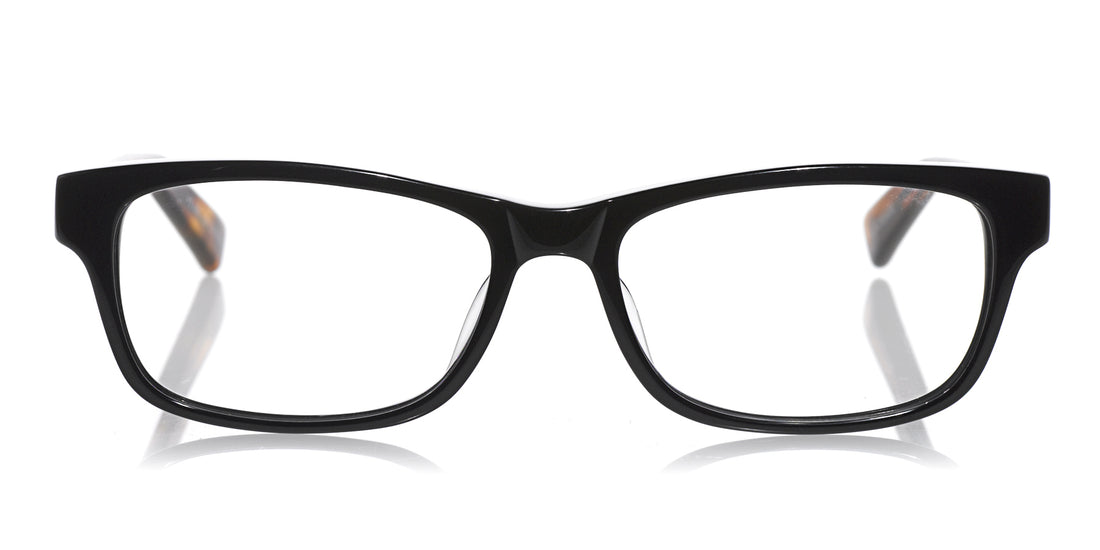 Bob Frapples Color 87 - Black front with brown plank temples