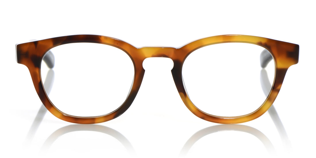 Waylaid Color 21 - Orange Tortoise Front with Black Temples