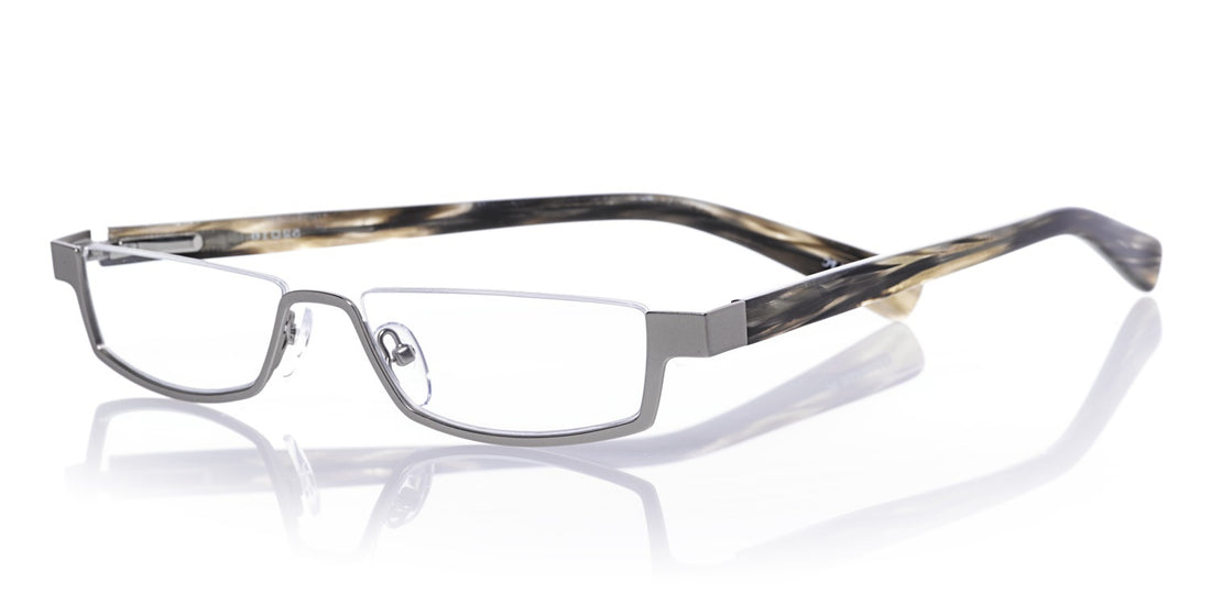 Peek Performer Color H1 - Matte silver front with horn temples