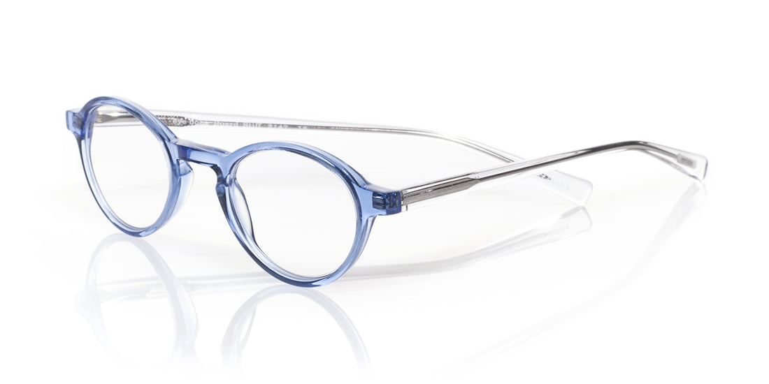 Board Stiff Color 15 - Blue crystal front with clear temples