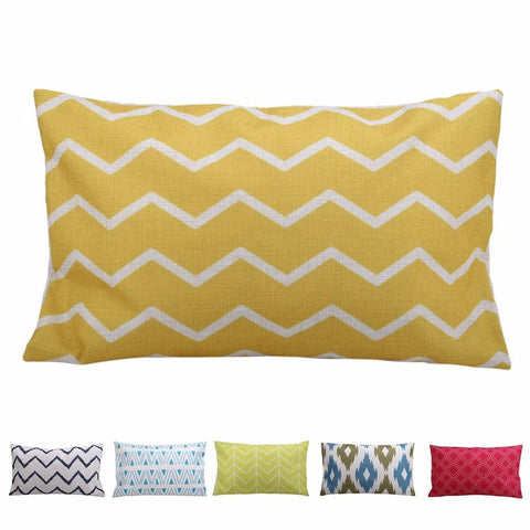 Rectangle Geometric  Cotton Cushion