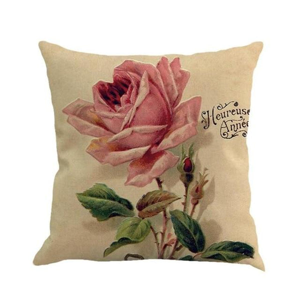 Love Flower Cover Throw Pillow