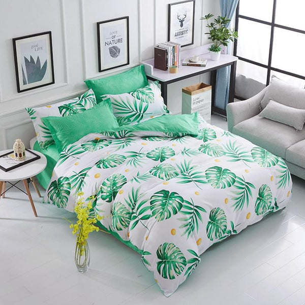 Plant Pattern Modern Bed Set