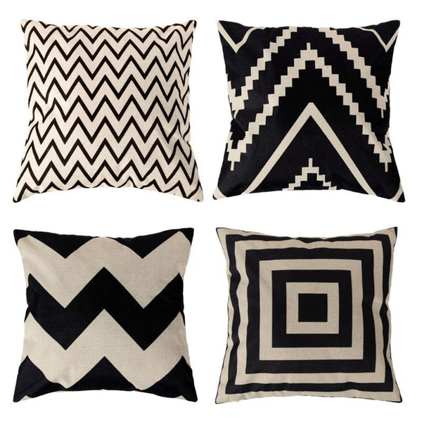 Geometric Cushion Cover Throw Pillow