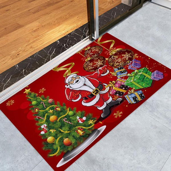 Merry Christmas Door Flannel Carpet