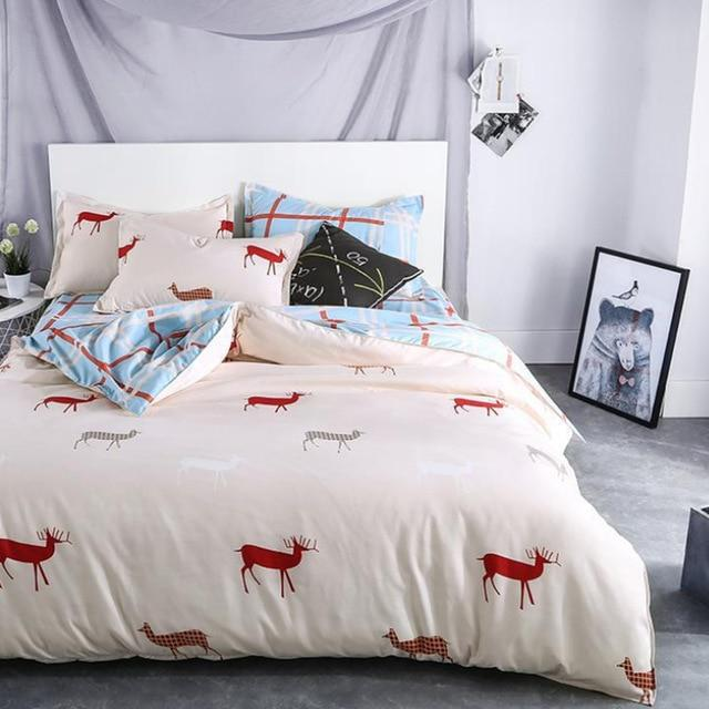 Plant cashmere Elk Bedding Sets