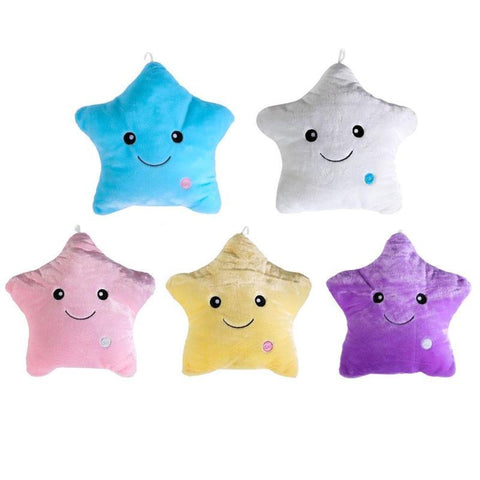 Colorful Stars Luminous Pillow