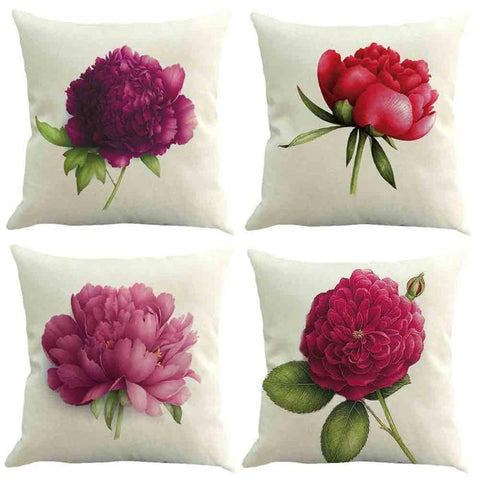 Flower Cushion Cover Cotton