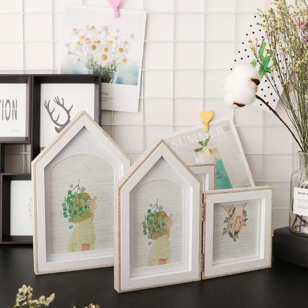 Double-sided House Shape Picture Frames