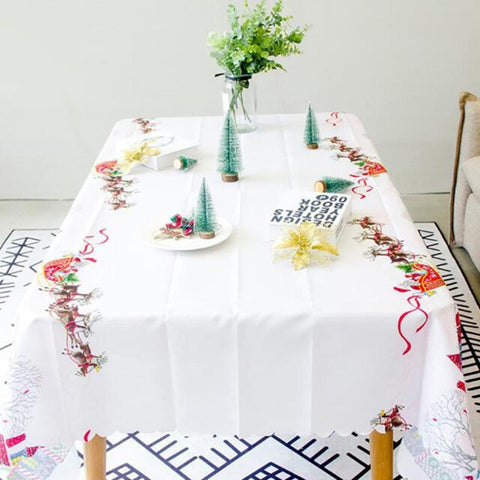 Christmas tablecloth Christmas polyester tablecloth
