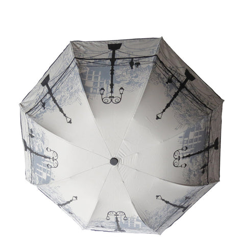 Street Light Printing Folding Umbrella