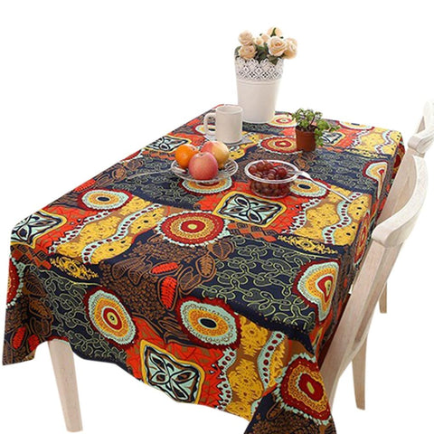 Ethnic Style Rectangle Anti-dirt Tablecloth