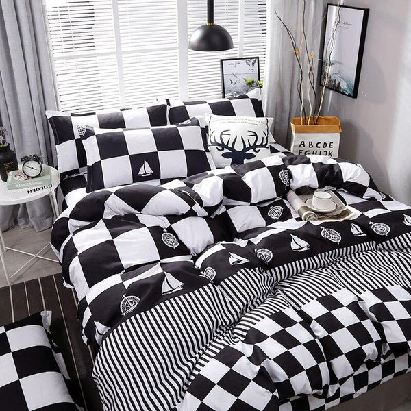 Plaid Brief Pattern Bedding Set