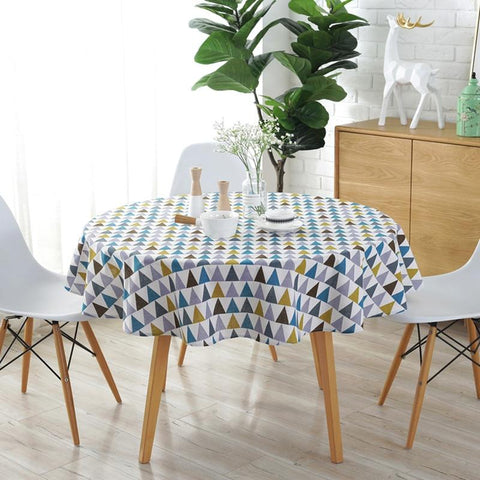Round Party Geometric Patterns Tablecloth