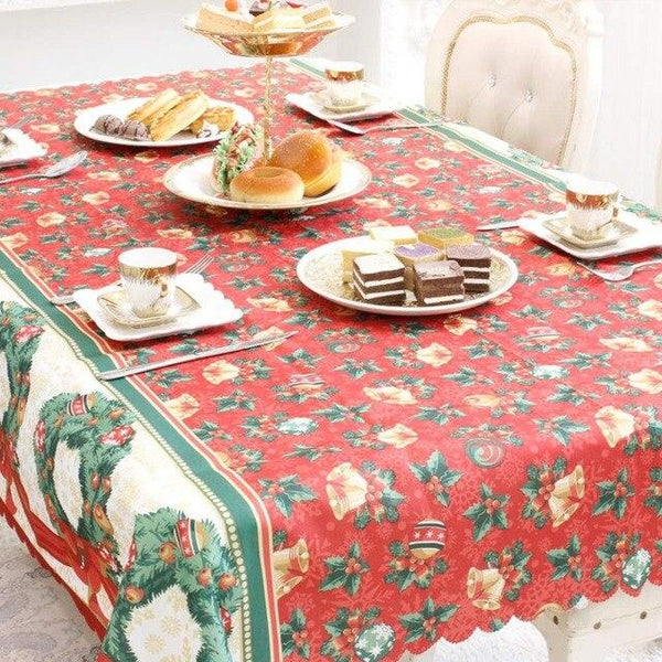 5 Patterns Christmas Tablecloth