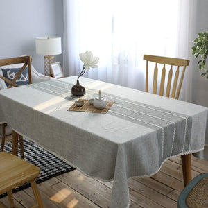 Simple Modern Cotton Linen Tablecloth