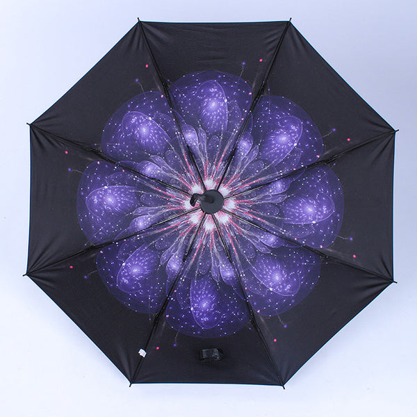 Sky Universe Black Pencil Umbrellas
