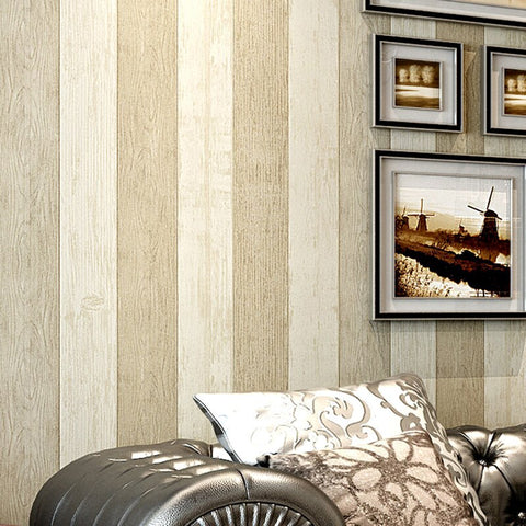 Non-woven Stripes Geometric Wallpaper