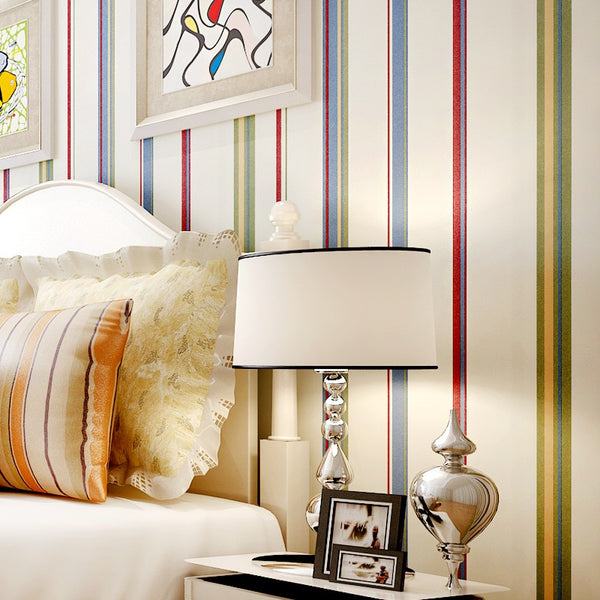 Striped Wall Paper Non-woven Wallpaper