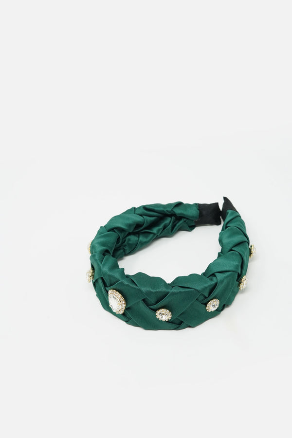 Julienne Embellished Braided Headband
