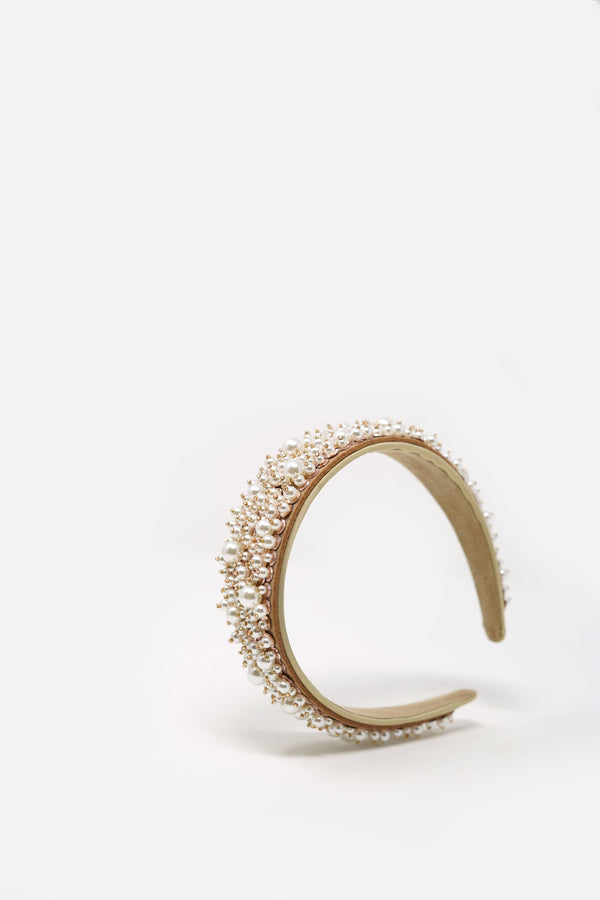 Julia Rose Gold Pearl Headband